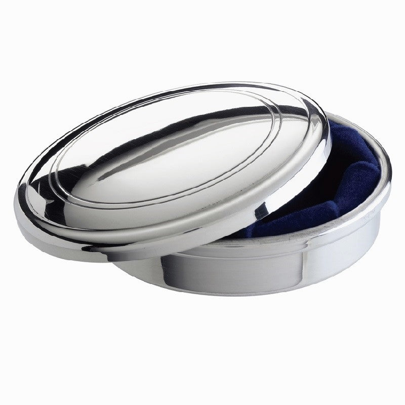 "Potomac Boat Club | Pewter Jewelry Box | 3"" Diameter 