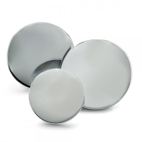 Plain Chrome Blazer Button Set by Benson & Clegg
