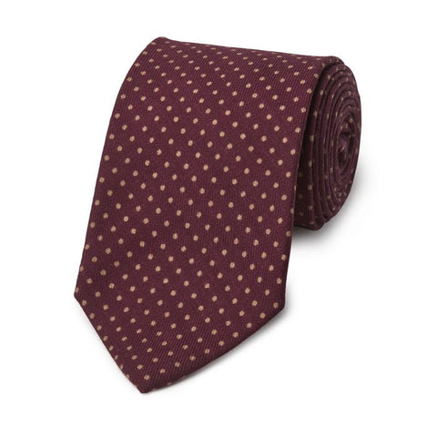 Budd Polka Dot Wool Tie in Various Colors