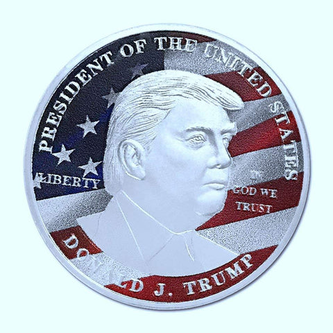 Commemorative Novelty Coin | President Donald Trump Silver Commemorative Novelty Coin | 45th President of the United States | Sterling and Burke | Made in USA-Novelty Coins-Sterling-and-Burke