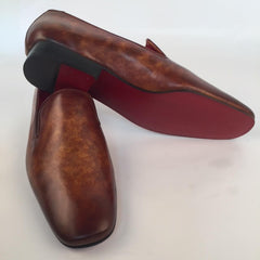 Custom Prince Albert Men's Slipper Shoes | All Leather Shoes | Handcrafted | Highest Quality | Sterling and Burke-Bespoke Shoes-Sterling-and-Burke