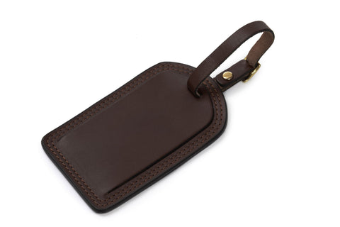Lux Miller Leather Luggage Tag