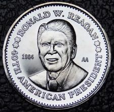 Commemorative Novelty Coin | President Ronald W. Reagan Silver Commemorative Novelty Coin | 40th President of the United States | Sterling and Burke | Made in USA-Novelty Coins-Sterling-and-Burke