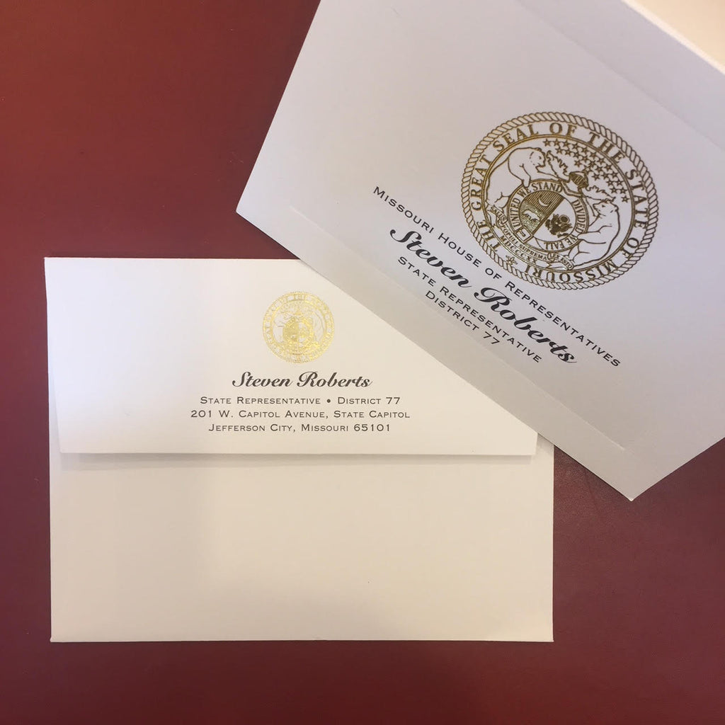 Custom Stationery | Well Priced / Nice Quality | Correspondence Cards and Envelopes | Foil Stamp and Off Set Printing | Made in USA | Sterling & Burke-Custom Stationery-Sterling-and-Burke