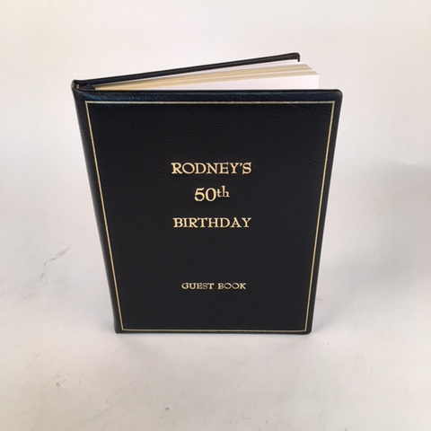 Leather Happy Birthday Guest Book / Notebook  / Memory Book | Superior Quality | Classic Luxury | 9 by 7 Inches | Blank Pages | Charing Cross