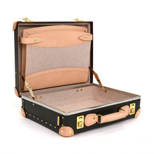 "Load image into Gallery viewer, Globe-Trotter Safari 16"" Slim Attache Case in Brown-Attache-Sterling-and-Burke"