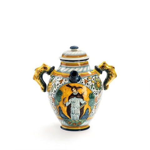 Santa Maria Novella Ceramic Vase with Saint Decoration, H 32cm