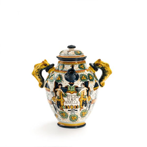 Santa Maria Novella Ceramic Vase with Square Decoration, H 32cm-Ceramic Accessories-Sterling-and-Burke