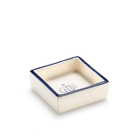 Santa Maria Novella Square Ceramic Soap Dish-Ceramic Accessories-Sterling-and-Burke