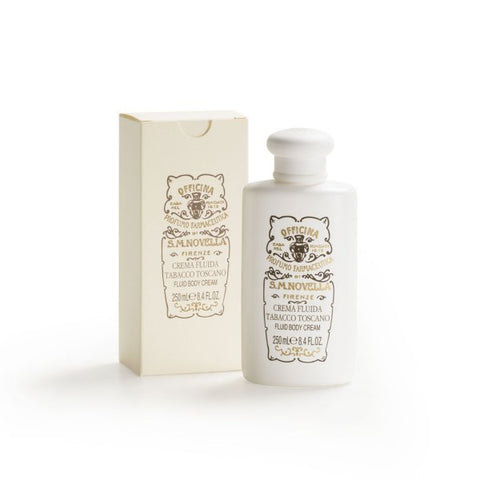 Santa Maria Novella Tabacco Toscano Fluid Cream, 250ml-Face & Body Care-Sterling-and-Burke