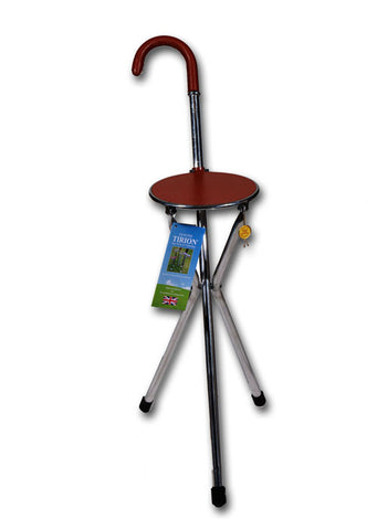 Seat Stick | Tripod Seat Stick / Walking Stick | Tripod Chair Stick | Seat Stick | Made in England