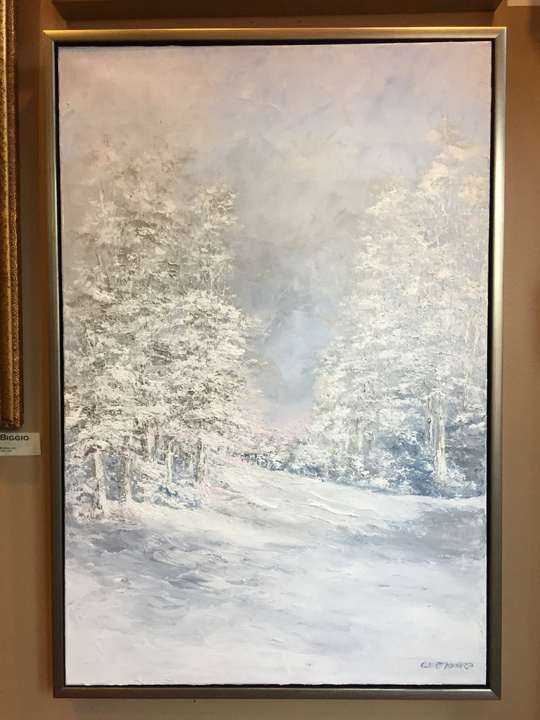 "Art | Silver Bells | Original Oil Painting by Claire Howard | 36"" x 24""-Oil Painting-Sterling-and-Burke"