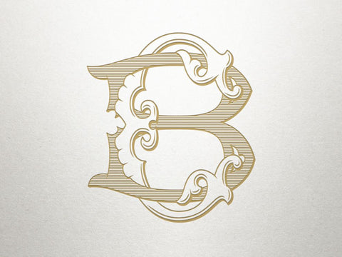Custom C B Monogram Samples-Stationery-Sterling-and-Burke