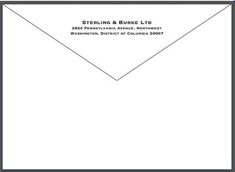 sterling and burke stationery seal logo crest on letterhead