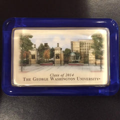George Washington University | Glass Paperweight Sample-Sterling-and-Burke