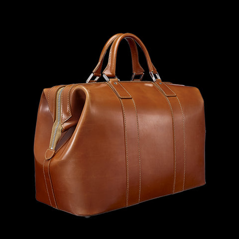 Custom Leather Weekender Duffel | Leather Duffle | Bridle Hide Holdall | Made in UK | Superior Quality | Wheels and Trolley | Hand Stitched | Sterling and Burke Ltd