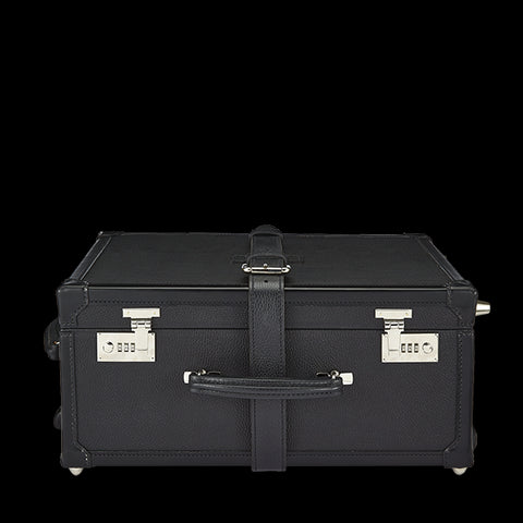 Custom Leather trunk suitcase Luggage on Wheels | 18 Inch Suitcase | Leather on Wheels | Made in UK | Superior Quality | Wheels and Trolley | Hand Stitched | Simpson of London