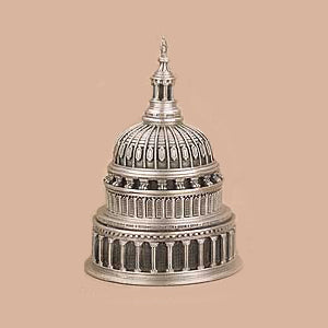 Capitol Dome pewter cufflinks-Stationery-Sterling-and-Burke