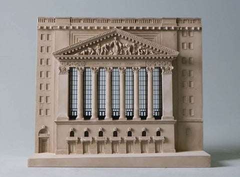 New York Stock Exchange Architectural Sculpture | Custom NYSE Statue | Building Model | Extraordinary Detail and Quality | Made in England | Timothy Richards