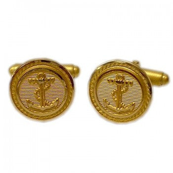 Anchor & Rope Gilt T-Bar Cufflinks