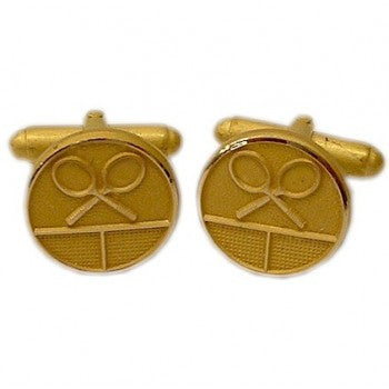 Tennis Gilt T-Bar Cufflinks-Cufflinks-Sterling-and-Burke