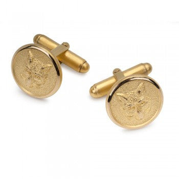 Fox Mask Gold T-Bar Cufflinks-Cufflinks-Sterling-and-Burke