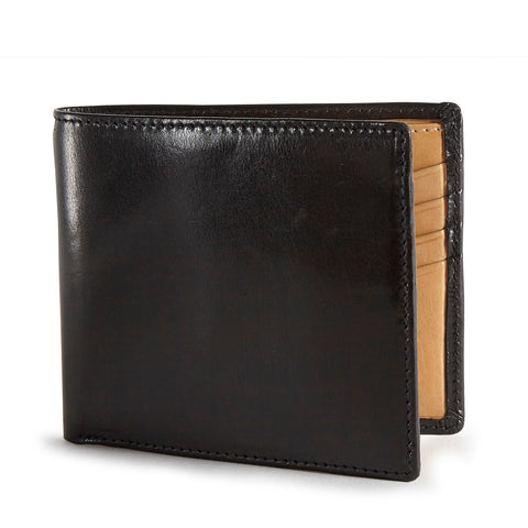 Tusting Leather Hip Wallet in Black and Natural
