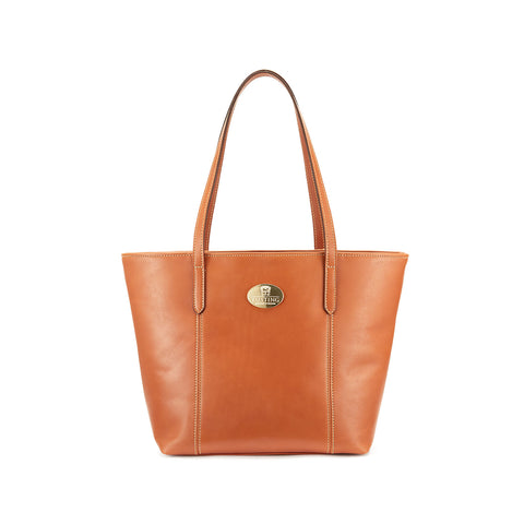Tusting Banbury Small Leather Tote Bag in Tan