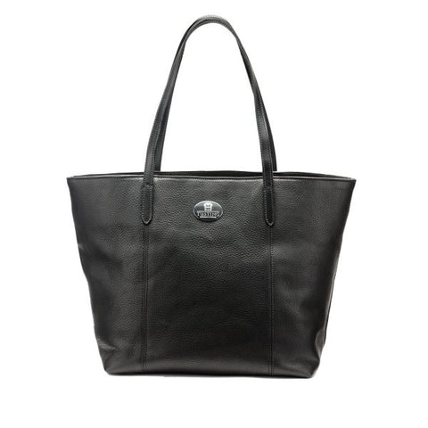 Tusting Banbury Small Leather Tote Bag in Black