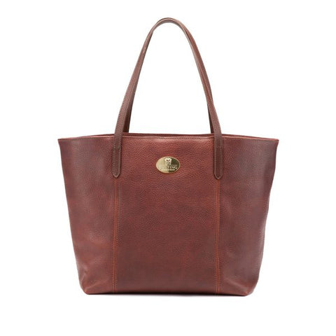 Tusting Banbury Small Leather Tote Bag in Chestnut