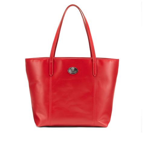 Tusting Banbury Large Leather Tote Bag in Red