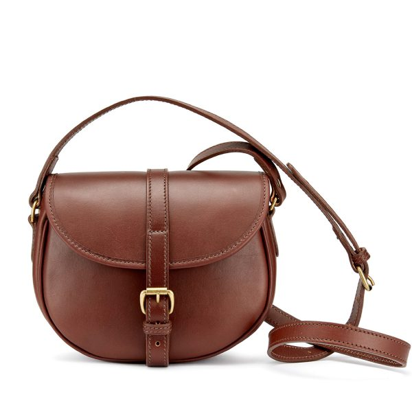 Tusting Cardington Medium Leather Handbag in Chestnut-Handbag-Sterling-and-Burke