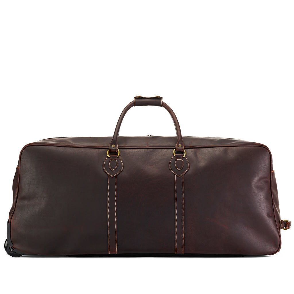 Tusting Grand Tourer Large Leather Duffle Bag-Travel Bags-Sterling-and-Burke