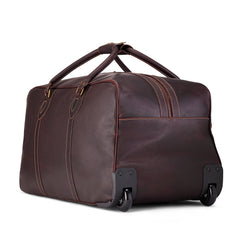 Tusting Grand Tourer Small Leather Duffle Bag-Travel Bags-Sterling-and-Burke