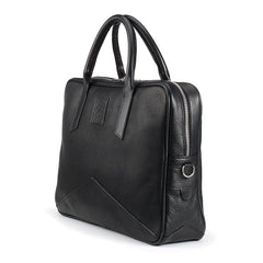Tusting Langford Leather Brief Bag in Black-Business Bags-Sterling-and-Burke