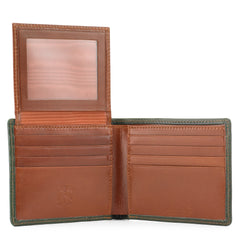 Tusting Wallet | Window Wallet | Classic Hip Wallet With Flap | Available in Various Colors | Tusting | Made in England-Leather Accessories-Sterling-and-Burke