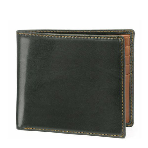 Tusting Leather Hip Wallet in Green and Tan
