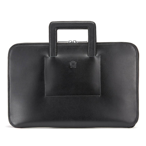 Tusting Westminster Folio Briefcase in Black-Business Bags-Sterling-and-Burke