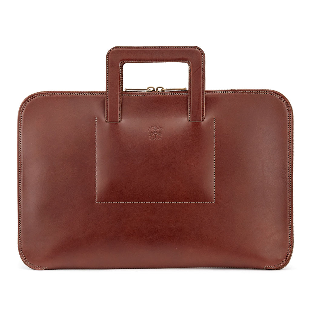 Tusting Westminster Folio Briefcase in Chestnut-Business Bags-Sterling-and-Burke