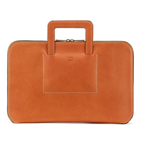 Tusting Westminster Folio Briefcase in Tan-Business Bags-Sterling-and-Burke