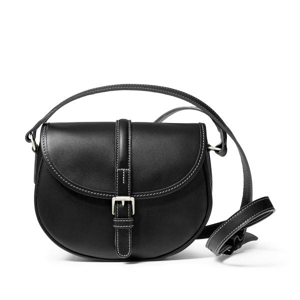 Tusting Cardington Medium Leather Handbag in Black-Handbag-Sterling-and-Burke