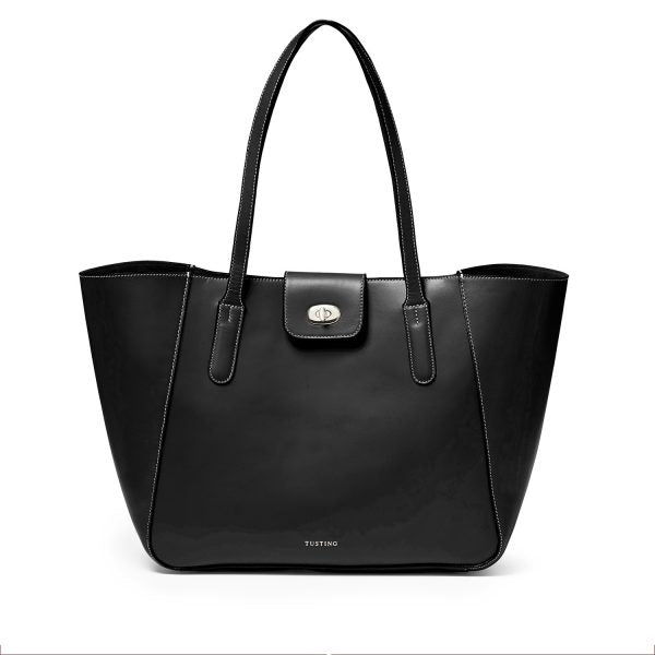 Tusting Twyford Tote in Black-Handbag-Sterling-and-Burke