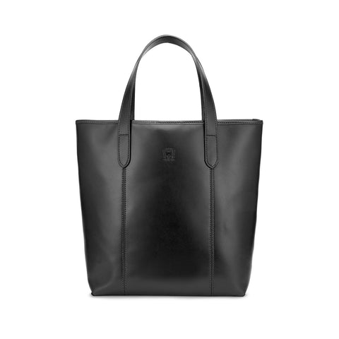 Tusting Chelsea Leather Tote Bag in Black