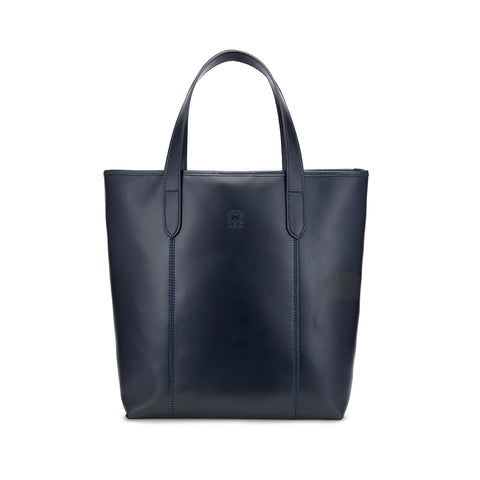 Tusting Chelsea Leather Tote Bag in Navy