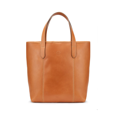 Tusting Chelsea Leather Tote Bag in Tan