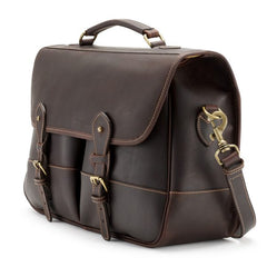 Tusting Clipper Large Leather Laptop Briefcase in Sundance-Business Bags-Sterling-and-Burke