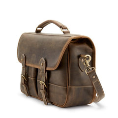 Tusting Clipper Small Leather Laptop Briefcase in Aztec