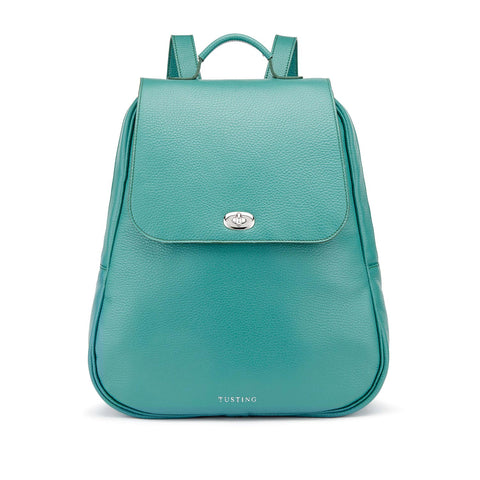 Tusting Eliza Large Leather Backpack / Handbag in Jade