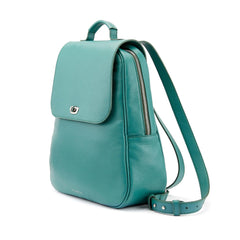 Tusting Eliza Large Leather Backpack / Handbag in Jade-Handbag-Sterling-and-Burke