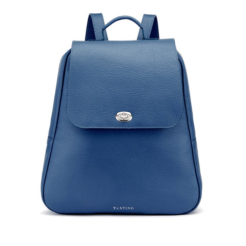 Tusting Eliza Large Leather Backpack / Handbag in Royal